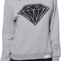 Diamond Supply Co. Women's Big Brilliant Grey Crew Neck Sweatshirt