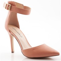 Two to Tango Closed Toe Pumps - Nude
