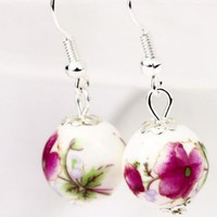 Free Gift – Pink Peony Ceramic Earrings