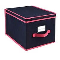 Storage Box - Large - Navy/Fuchsia