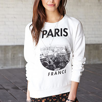 Paris Moment Fleece Sweatshirt