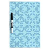 Gryphon Silhouette Pattern - Light Blue