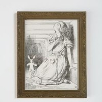UrbanOutfitters.com &gt; Framed Alice Too Big Wall Art - 7x9