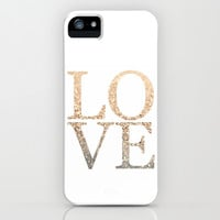 GATSBY GOLD LOVE iPhone & iPod Case by Monika Strigel