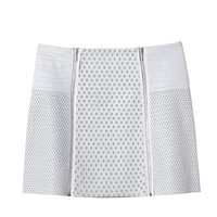 Perforated Leather Skirt | Rebecca Taylor