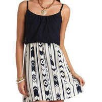 CROCHET & IKAT PRINT DRESS