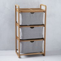 Bamboo Laundry - Triple Shelving Hamper