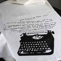 Typewriter Tea Towel