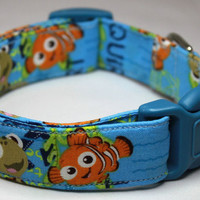 Finding Nemo Dog Collar Size Extra Small, Small, Medium or Large