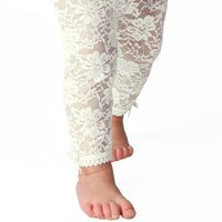 Baby Emporio - Baby Girl Lace Leggings