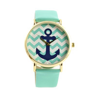 CHIC MINT ANCHOR WATCH