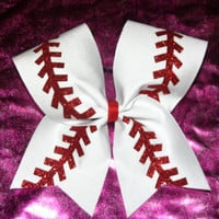 Baseball Cheer Bow