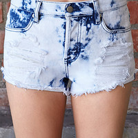 Forever Cool Bleached Cutoffs