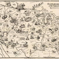 Bootlegger's Map of the United States - REPRODUCTION MAPS