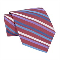 XMI Bright Striped Woven Silk Tie at Von Maur
