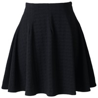 Energetic Black Jacquard Skater Skirt