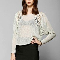 Pins And Needles Floral Crochet Sweaterknit Top - Urban Outfitters
