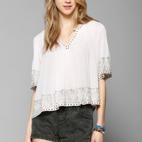 Love Sam Ikat Embroidered Blouse - Urban Outfitters