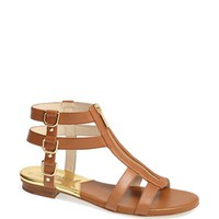 MICHAEL Michael Kors 'Kennedy' Flat Leather Gladiator Sandal | Nordstrom