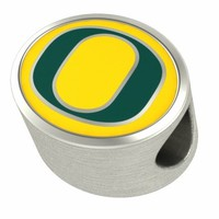 Buy University of Oregon Ducks Bead and Charm Fits Pandora Style Bracelets Free Shipping