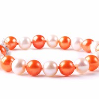 Buy Texas Longhorns Spirit Pearl Bracelet. Free Shipping