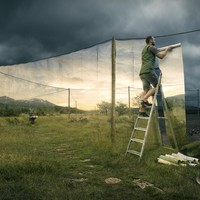 """The Cover Up"" - Art Print by Erik Johansson"