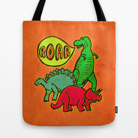 Roar! Tote Bag by Pixel Pop