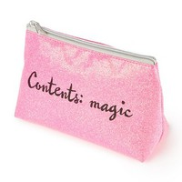 Contents: Magic Glitter Cosmetic Bag | Claire's