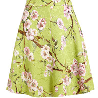 DOLCE & GABBANA | Floral Printed Textured Skirt | Browns fashion & designer clothes & clothing