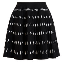 AZZEDINE ALAÏA | Teardrop Laddered Stretch-Knit Skirt | Browns fashion & designer clothes & clothing