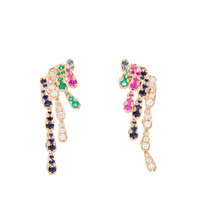 SABINE G | 18k White Gold, Emerald and Sapphire Wing Earrings | Browns fashion & designer clothes & clothing