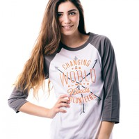Changing the World Baseball Tee