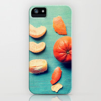 Orange Wedge iPhone & iPod Case by Olivia Joy StClaire
