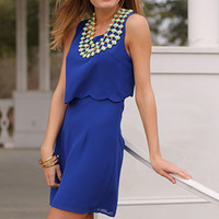 The Lucy Dress, Royal Blue