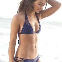 The Girl and The Water - ACACIA Swimwear - Tunnels Bikini Top / Indigo - $110