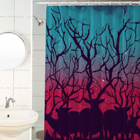 Deers, Forest, Shower Curtain, Hooks Included