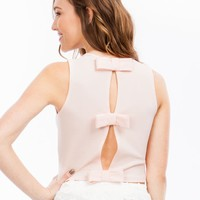 Just Bow With It Cut-Out Cropped Top