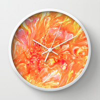 Floating Petals Wall Clock by Rosie Brown