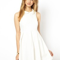Mademoiselle Tara Cotton Pique Dress with Collar