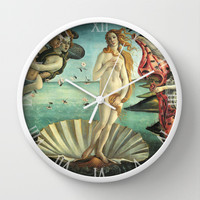 Angels and Venus  Wall Clock by BeautifulHomes