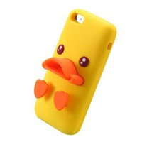 Cute Yellow Duck Phone Shell Case for Iphone5/5s