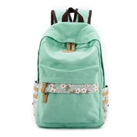 Floral Print Travel School Computer Backpack Shoulder Bag Rucksack