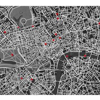 London Felt Map - Black