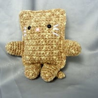 Tan Crochet Cat Stuffed Toy