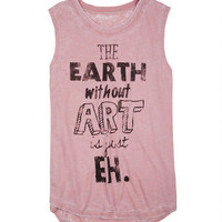 Earth Without Art Burnwash Muscle Tank