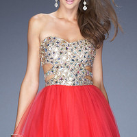 Short Sequin Prom Dress by La Femme 19701