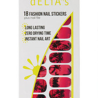 Sunset Palm Tree Nail Stickers