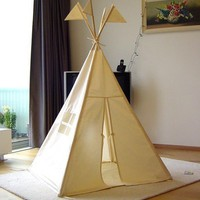 Indoor play teepee plain by moozlehome on Etsy