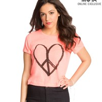 Heart Logo Cropped Graphic T