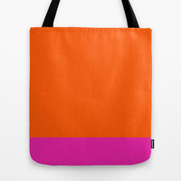 Orange & Pretty in Pink Tote Bag by All Is One
